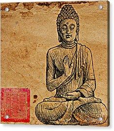 Buddha The Minimalist Acrylic Print