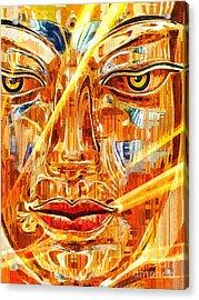 Buddha Titanium Acrylic Print by Khalil Houri