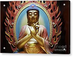 Acrylic Print featuring the photograph Buddha Tooth Relic Temple 3 by Dean Harte