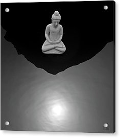 Buddha V  Bw Acrylic Print by David Gordon