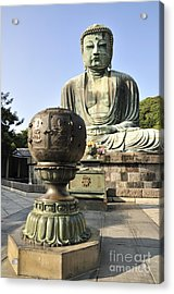Buddha With Urn Acrylic Print by Andy Smy