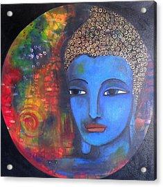 Buddha Within A Circular Background Acrylic Print