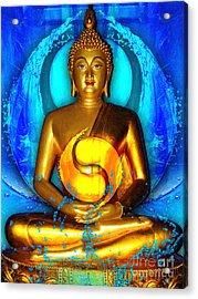 Buddha Yin Yang Acrylic Print by Khalil Houri