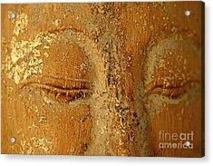 Buddha's Eyes Acrylic Print by Julia Hiebaum