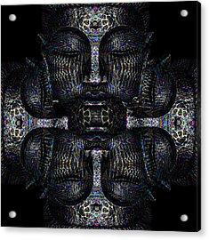 Buddhas Psylence Acrylic Print by Shiva Designz