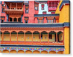 Acrylic Print featuring the photograph Buddhist Monastery Building by Alexey Stiop
