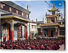 Buddhist Monastery In Full Attendance Acrylic Print by Nila Newsom