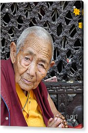 Buddhist Monk Kathmandu Acrylic Print