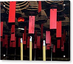 Buddhist Temple Ladder Street 2 Hong Kong Acrylic Print