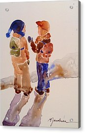 Buddies Acrylic Print by Marilyn Jacobson