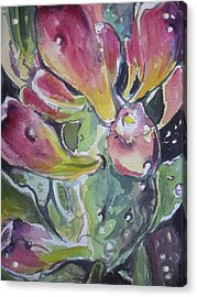 Budding Cactus In Spring IIi Acrylic Print by Aleksandra Buha