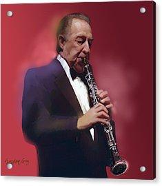 Buddy Defranco Clarinet Acrylic Print