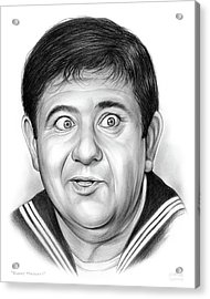 Buddy Hackett Acrylic Print by Greg Joens