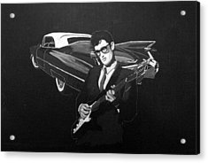 Buddy Holly And 1959 Cadillac Acrylic Print