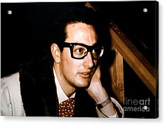 Buddy Holly Backstage During His Last Tour. Acrylic Print by The Titanic Project