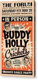 Buddy Holly Acrylic Print