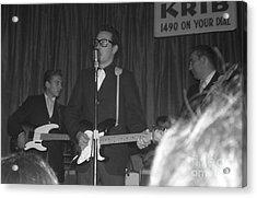 Buddy Holly Onstage At The Surf Ball Room Playing His Last Concert Acrylic Print by The Titanic Project