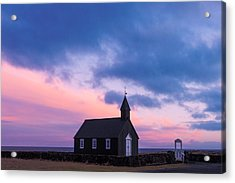 Budir Black Church Acrylic Print