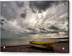Budleigh Salterton Beach Acrylic Print