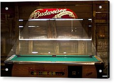 Budweiser Light Pool Table Acrylic Print