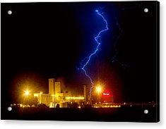 Budweiser Lightning Strike Acrylic Print by James BO  Insogna