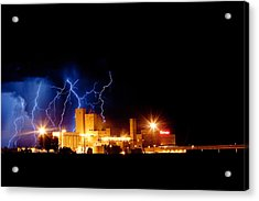 Budweiser Lightning Thunderstorm Moving Out Acrylic Print
