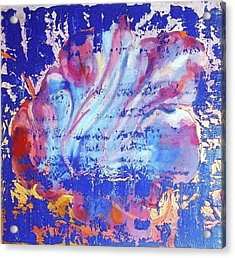 Acrylic Print featuring the painting Bue Gift by Eva Konya