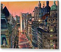 Buenos Aires Twilight Acrylic Print