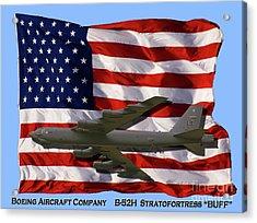 Buff And Flag Acrylic Print by Tim Mulina