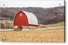 Acrylic Print featuring the photograph Buffalo County Barn by Dan Traun
