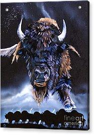 Buffalo Medicine Acrylic Print