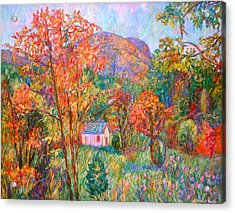 Acrylic Print featuring the painting Buffalo Mountain In Fall by Kendall Kessler