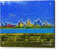 Buffalo Ny Skyline Acrylic Print by Deborah MacQuarrie-Selib
