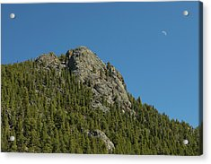 Acrylic Print featuring the photograph Buffalo Rock With Waxing Crescent Moon by James BO Insogna