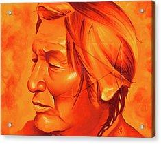 Buffalo Tracks Acrylic Print by Robert Martinez