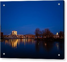 Buffalo Waterfront Twilight Acrylic Print
