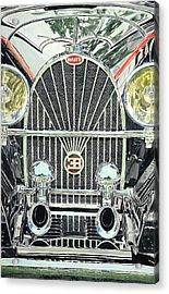 Bugatti Chrome Acrylic Print