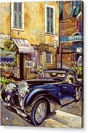 Bugatti Acrylic Print by Mike Hill
