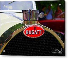 Bugatti Red Acrylic Print