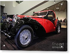 Bugatti Red Acrylic Print by Wingsdomain Art and Photography