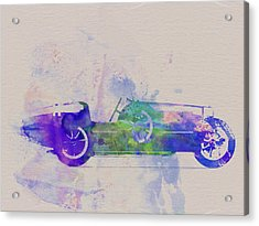 Bugatti Type 35 R Watercolor 2 Acrylic Print by Naxart Studio