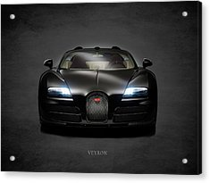 Bugatti Veyron Acrylic Print by Mark Rogan
