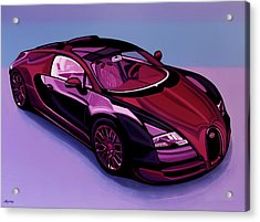 Bugatti Veyron 2005 Painting Acrylic Print by Paul Meijering