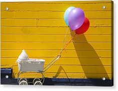 Buggy And Yellow Wall Acrylic Print by Garry Gay