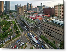 Bugis Village Junction In Singapore Entertainment District Acrylic Print by David Gn