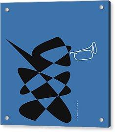 Acrylic Print featuring the digital art Bugle In Blue by David Bridburg