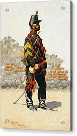 Bugler Of The Cavalry Acrylic Print by Frederic Remington