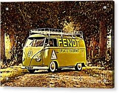 Builders Bus Acrylic Print