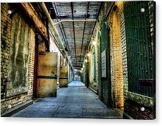 Building 64 Interior - Alcatraz Island Acrylic Print by Jennifer Rondinelli Reilly - Fine Art Photography