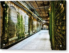 Building 64 Interior Hallway - Alcatraz Island Acrylic Print by Jennifer Rondinelli Reilly - Fine Art Photography
